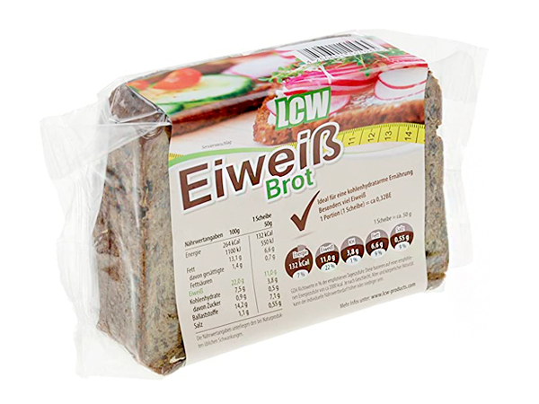 Pan de molde y pan de sandwich bajos en carbohidratos LCW