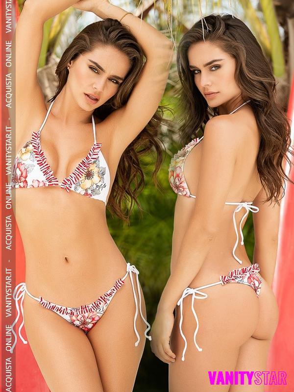 Bikini floreale perizomato Damarys