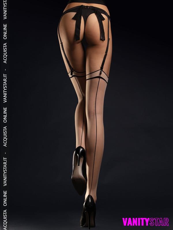 Calze per reggicalze con riga Madame
