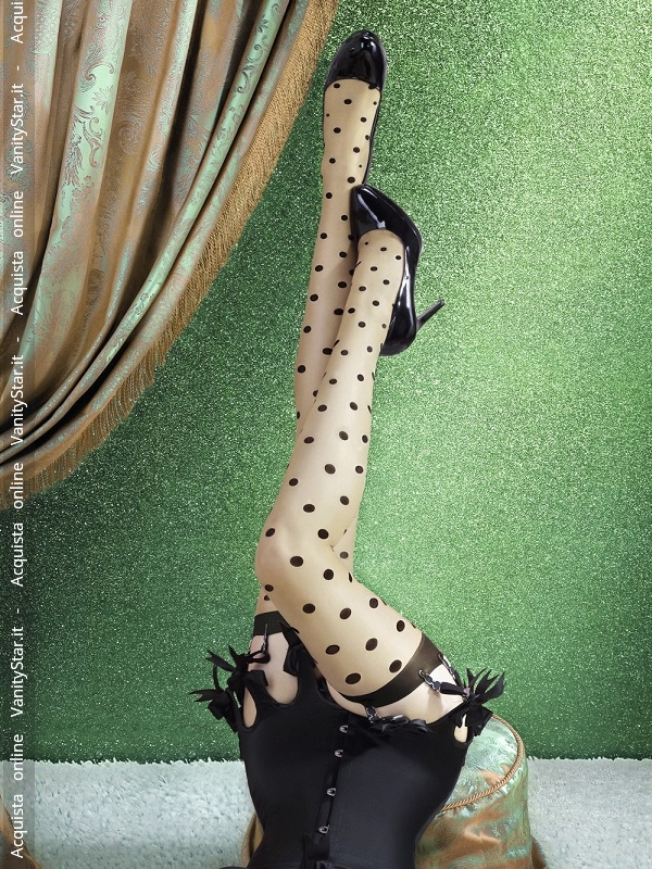 Calze pin up con pois Lulu