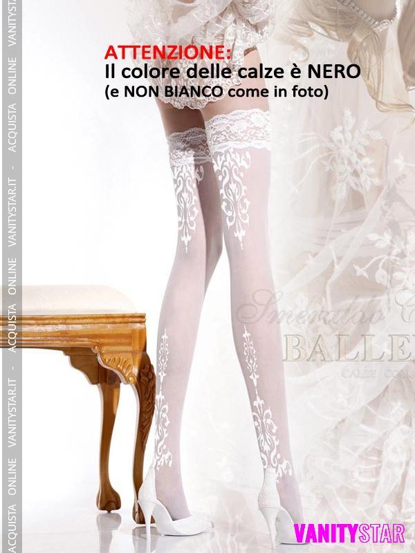 Eleganti calze autoreggenti Cassandra Black
