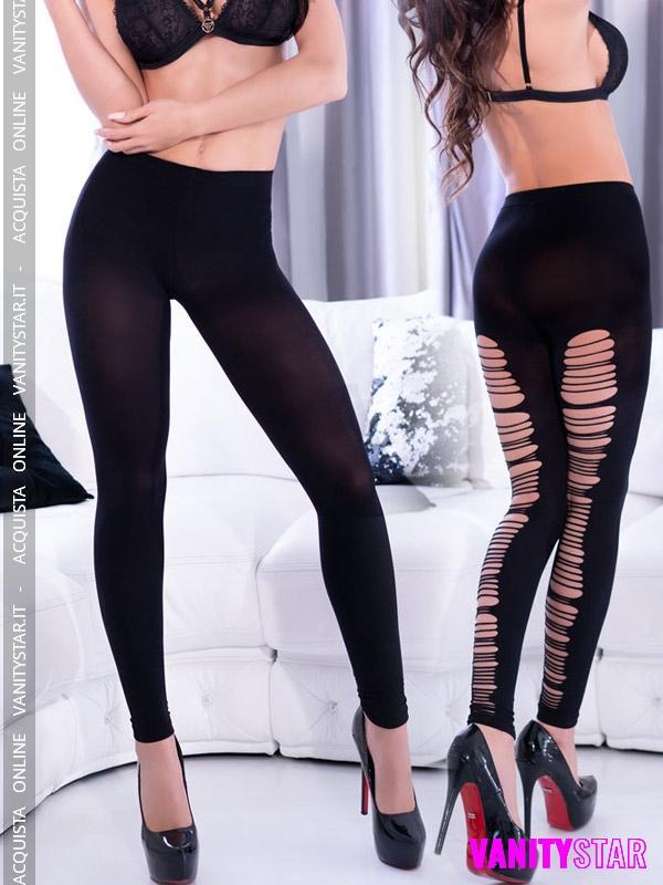 Leggings con intagli Senica Black