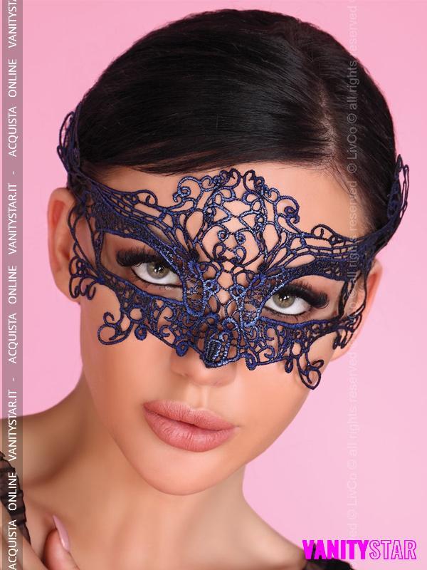 Maschera in tessuto blu 1468