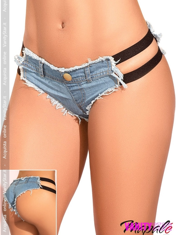 Shorts in jeans a tanga Polyn