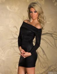 Abito elegante scollato Klizia Black