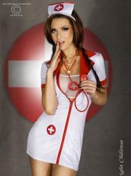 Abito corto da infermiera Cayla