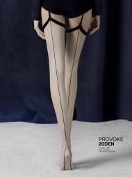 Calze per reggicalze con riga Provoke Linen