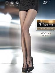 Collant con decori floreali Modena Black