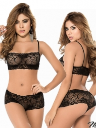 Completino in pizzo Trimy Black