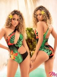 Costume monospalla fianco scoperto Samoa