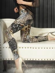 Leggings mix fantasie Animalier Beige
