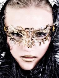 Maschera fatta a mano Federica Gold