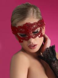 Maschera in tessuto rosso Model 4