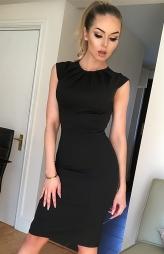 Elegante abito aderente Amy Black