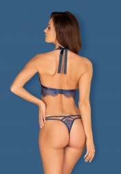 Completo in pizzo blu Flowlace