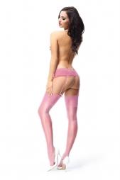 Calze per reggicalze con balza alta S101 Pink