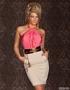 Abito elegante con contrasto di tessuti PinkSally