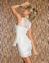 Elegante abito in pizzo bianco ShaniaWhite