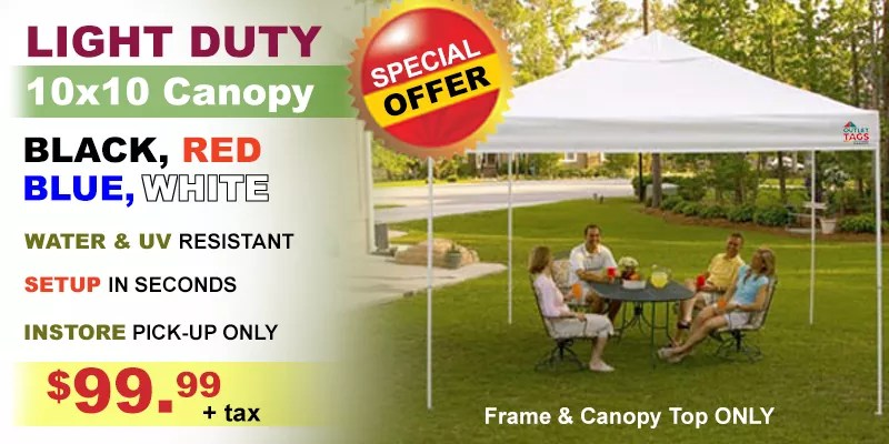 Special Deal $99.99 Canopy