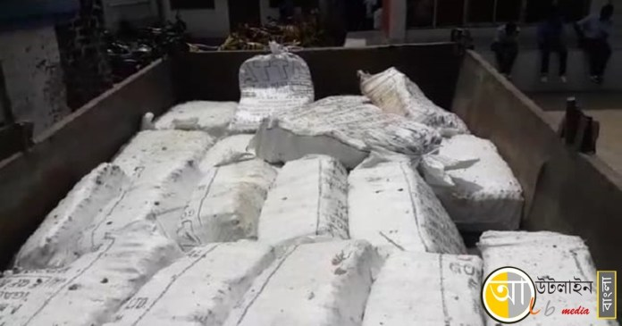Police recovered a tractor loaded with explosives in Rampurhat