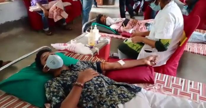 path padarshak organizing blood donation camp