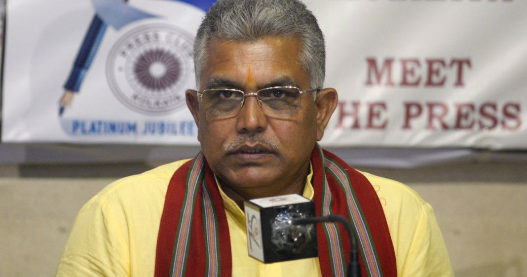 dilip ghosh made bad remarks on police
