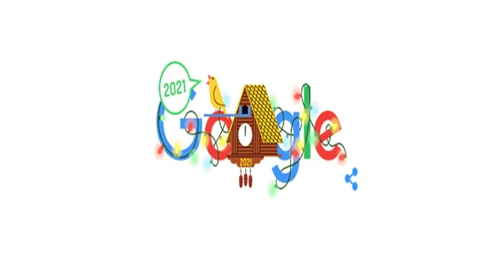 New Year's Day 2021 Google Doodle