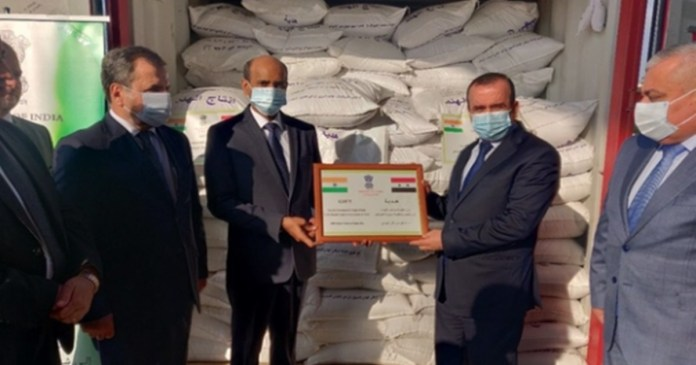 India provides 2000 tonnes of rice to war-torn Syria as humanitarian