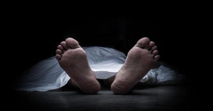 The dead body of old man