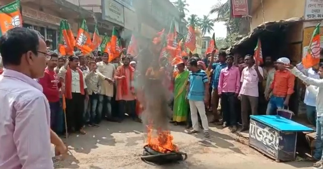BJP workers protest against candidates list birbhum west bengal