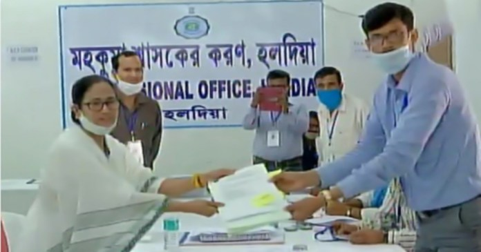 Mamata Banerjee submitted her nomination for Nandigram constituency as a Trinamool candidate