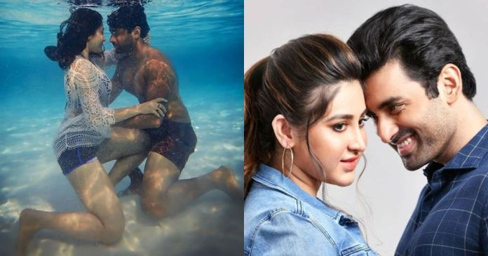 Ankush-Oindrila is in warm love under the water, see the picture