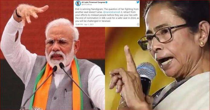 TMC tells Prime Minister Narendra Modi, Didi winning Nandigram, worry about Varanasi in 2024