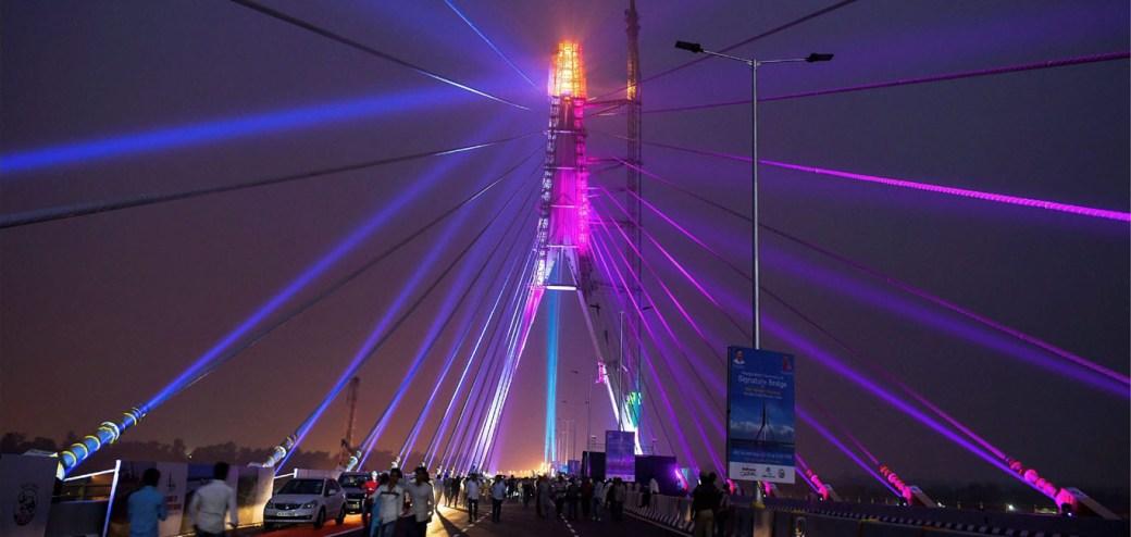Image result for signature bridge delhi