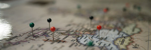 maps with pins