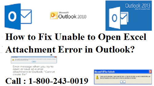 Fix Unable to Open Excel Attachment Error in Outlook