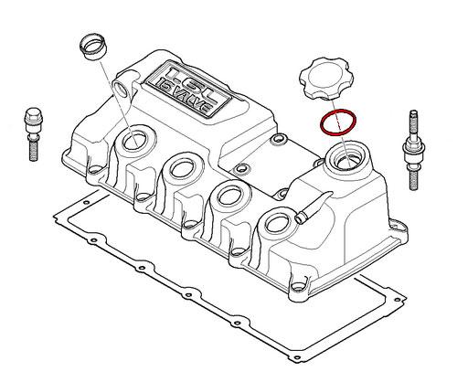 MINI Cooper Replacement Oil Filler Cap O-Ring 11127514981