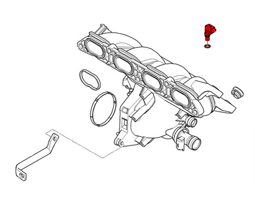 13627540508 MINI Cooper Intake Manifold Pressure Sensor