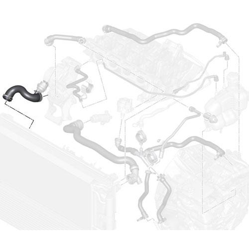 17127617368 MINI Cooper Replacement Hose: Radiator