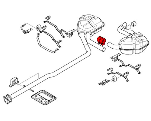 18107573865 MINI Cooper Replacement Exhaust System Rear