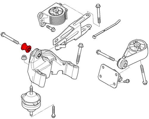 22116757369 MINI Cooper Replacement Engine Suspension