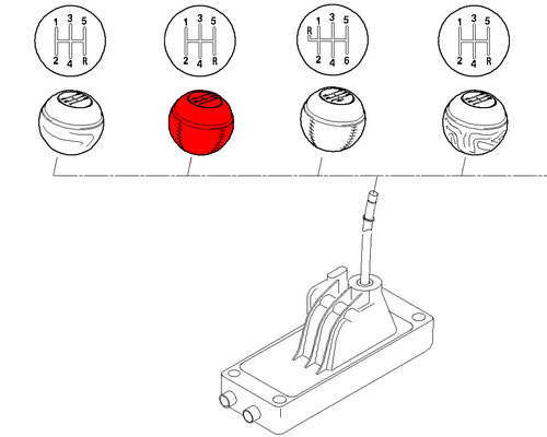 Replacement MINI Shift Knob: Manual: 5 speed manual