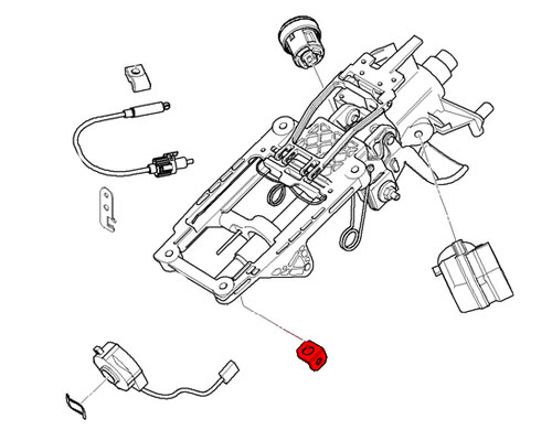 32306757258 MINI Cooper Replacement Bracket: Cable Harness