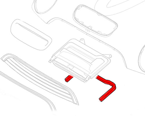 51131502776 MINI Cooper Replacment Bonnet Hood Air Duct