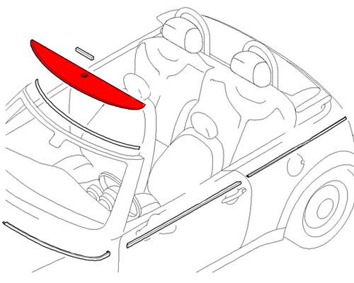 51137200293 MINI Cooper Replacement Cover: Windscreen