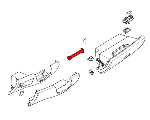 51167073407 MINI Cooper Replacement Glove Box Cold Air