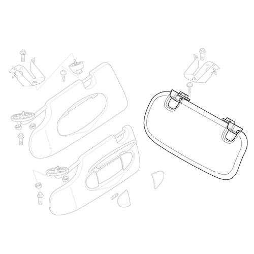 51167134459 Mini Cooper Replacement Parts Sun Visor