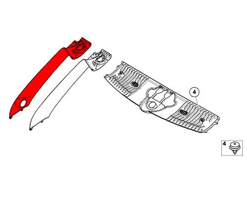 51437242339 MINI Cooper Replacement Trim: A Column Cover w