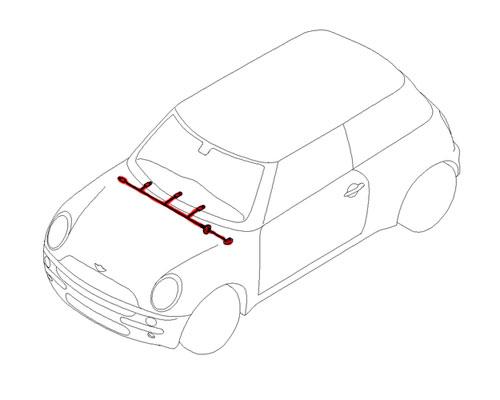 61116937059 MINI Cooper Replacement Instrument Panel