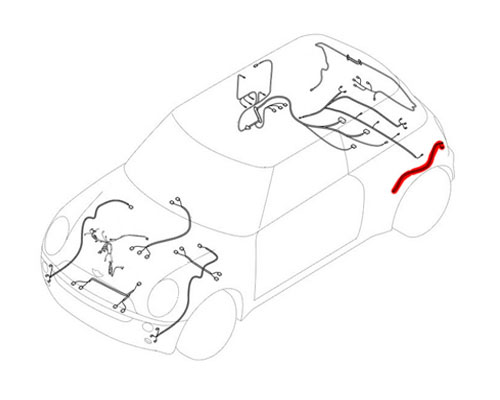 61119237279 MINI Cooper Replacement Wiring: Rear Left